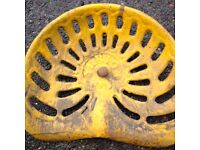 Albion Cast Iron Tractor Seat