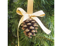 Pine cone Christmas tree decorations, ornaments