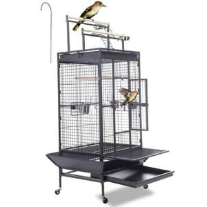 New Bird Cage Play Top Strong Iron Ladder Parrot Cockatoo Parakeet Pet Supply - BRAND NEW - FREE SHIPPING