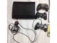 PS3 with 3 controllers and 17 games