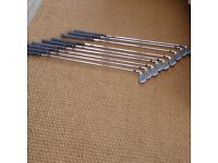 Dynacraft DFS Irons 3-SW, Regular shafts, right handed.