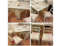 Beautiful Cath Kidston Shabby Chic dining table and chairs set