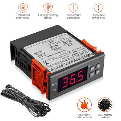 Digital Temperature Controller Temp Sensor Thermostat Control Relay 10a 110v New