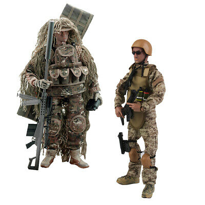 "2pc 12 ""Forze speciali militari SWAT Action Figure 1/6 Police Dogs Wargame"