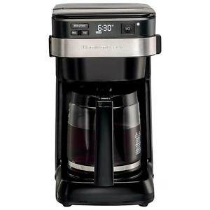 Hamilton Beach Programmable Coffee Maker - 12-Cup - Black