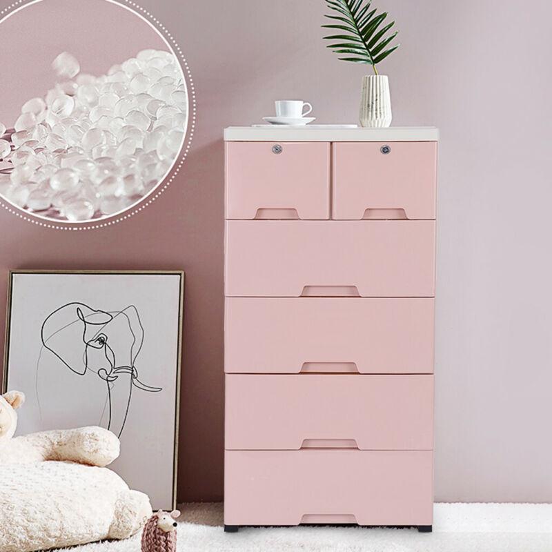 Dresser 6 Drawer Bedroom Furniture Storage Chest Organizer C
