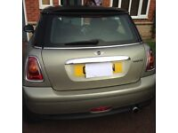 Mini Cooper 2007 Facelift with Chilli Pack - Silver/Gold Colour and Black Roof.