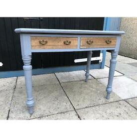 hand painted vintage table/desk