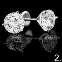 BOUCLES D'OREILLES EN DIAMANTS / GOLD DIAMOND STUD EARRINGS