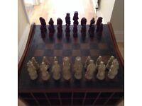 Reynard the Fox Chess Set with Chess Unit