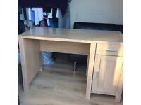 Light wood effect desk
