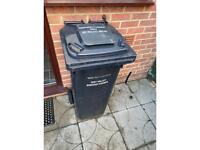 Black 140L wheeled bin free
