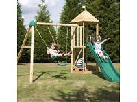 Weekend Offer!!! TP Castlewood Beeston Wooden Swing Set & Slide - RRP £720