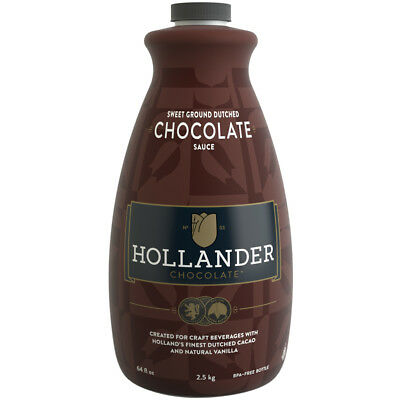 Hollander Sweet Ground Dutched Chocolate Sauce - 64 oz Bottles