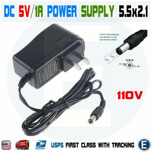 DC 5V 1A Power Supply Adapter US Plug AC Converter Charger 5.5mm x 2.1mm USA