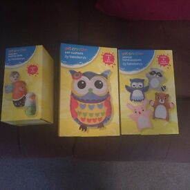 Brand new in boxes , 3 sewing & painting toys