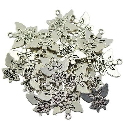 30x Handmade Angels Watching Over Me Charms DIY Jewelry Making Findings