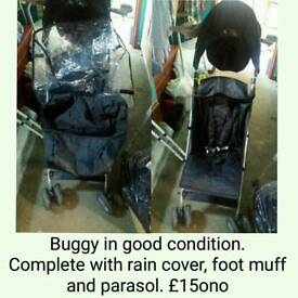*BARGAIN PRICE-REDUCED* Black Buggy With Extras