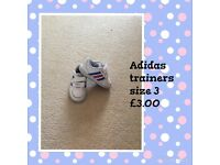 Baby Adidas trainers size 3