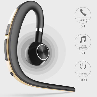 Wireless Bluetooth Earpiece Headset Over-Ear Headphones for HTC LG Samsung Moto ()