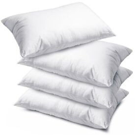 4 X Luxury Deluxe Pillows - Super Bounce Back Pillows Hollow Fibre Filled Pillow FREE PP £20
