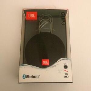 JBL Clip 3 Bluetooth Speaker Waterproof + Speakerphone Black  New