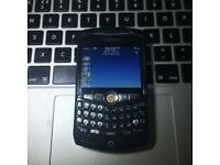 Very Good Unlocked BlackBerry Curve 8310 in Black Classic Mobile Phone + Charger + Sim Card
