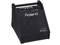 Roland PM10 Drum Monitor Amplifier clean tested excellent V Drums line in 2x inputs Great condition