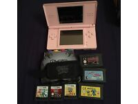 Pink DS lite with games