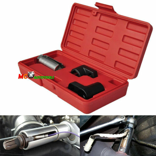 "New 3pc Oxygen Sensor 02 Sockets Tool Set Automotive Wrench 7/8"" 22mm"