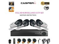 Home Shop CCTV HD 2MP 1080P Night Vision Surveillance Security Camera System Kit