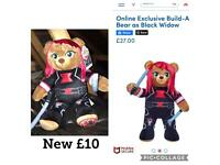 New black widow buid a bear