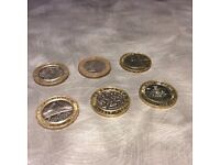 SIX OF THE BEST £2 RAREST COINS - £6 EACH INCLUDING POSTAGE !!