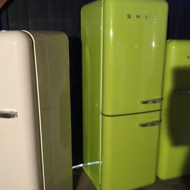 LOVELY LIME GREEN SMEG FAB32 FRIDGE FREEZER. 6 MNTH WARRANTY. CAN DELIVER/view