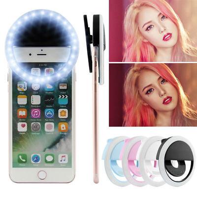 Selfie Portable LED Light Ring Fill Camera Flash For Mobile Phone iPhone Samsung - Light Rings