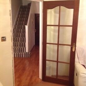 Internal Glass Pane Mahogany Wooden Doors x 4