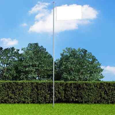 Heavy-duty 6.2m Flagpole Aluminium 4 Sections Flag Pole Halyard Pole Kit Outdoor