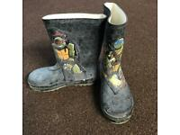 Boys Teenage Mutant Ninja Turtle Wellies Size 13
