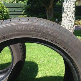 HANCOOK Winter Tyres 245/45/R17 V99