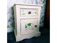 Beautiful Wooden Mexican Pine Bedside Table Storge Unit Shabby Chic Furniture
