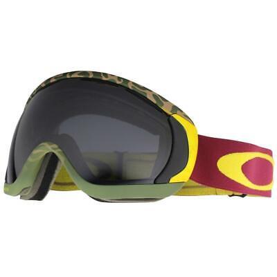 2dff286971f Oakley 59-469 Canopy Flight Series Camo Red Yellow Dark Grey Lens Snow  Goggles .