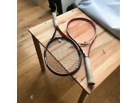 PROFESSIONAL TENNIS RACKET WILSON AND BABOLAT