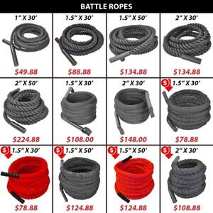 Covered   Rope   Crossfit   Battle   Battling   Woven   Endurance   Uncovered   Ropes   Nylon