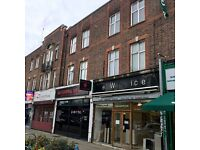 MODERN 1 BED FLAT ABOVE SHOPS PARTLY FURNISHED 7 MINS WALK TO SUDBURY HILL TUBE STATION TO LET