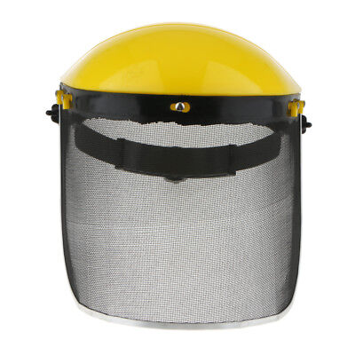 Mesh Face Shield Screen Chainsaw Forestry Safety Visor Helmet Protector