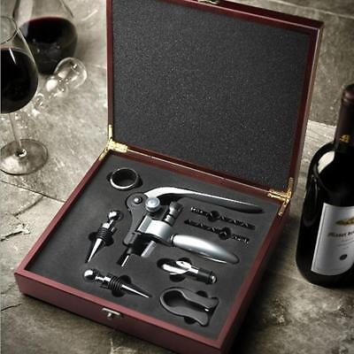 8Piece Wine Bottle Opener Accessories Set with Corkscrew, Pourer & Stopper