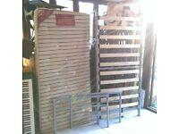 Single Bed Frame & VGC Orthopaedic Mattress - Silver/Metal Frame