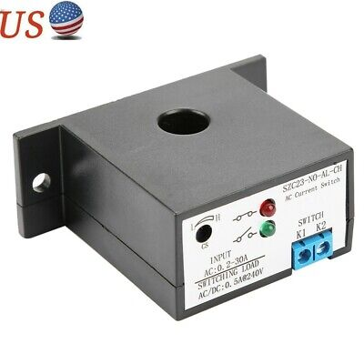 Normally Open/Closed Current Sensing Switch Control AC 0.2-30A SZC23-NO-AL-CH US