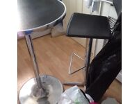 Tall bistro table & stool