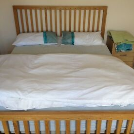 Real wood kingsize double bed for sale